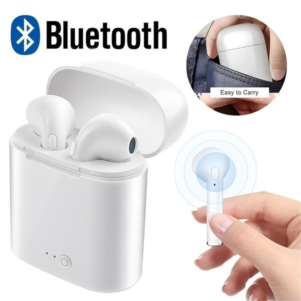 Earphones & Headphones Bluetooth Earphones & Headphones Beautiful 2019 Vip Ture I7s Tws Bluetooth Earbuds Headset Wireless Mini In-ear Earphones With Charging Box For Dropshipping Sellers High Quality Materials